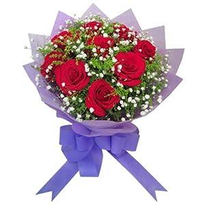 9支红玫瑰,满天星, 9支红玫瑰,满天星,多少钱 9支红玫瑰,满天星,花语寓意 传情鲜花 麻辣烫鲜花网