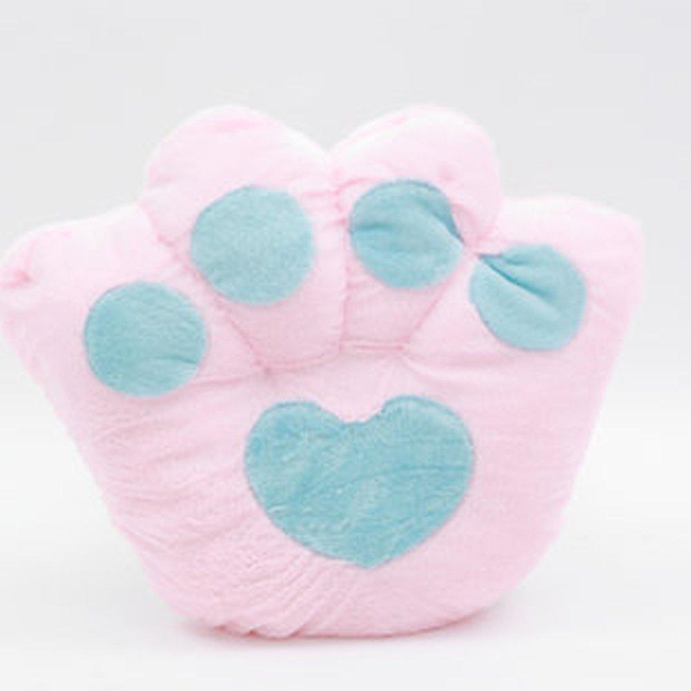 大眼猫 可爱卡通爪子熊掌坐垫抱枕靠垫大号毛绒熊爪抱枕靠背坐垫 (70*
