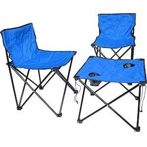 CREAJOY 创悦 便携式折叠桌椅三件套 CY-5835 蓝色 84元包邮