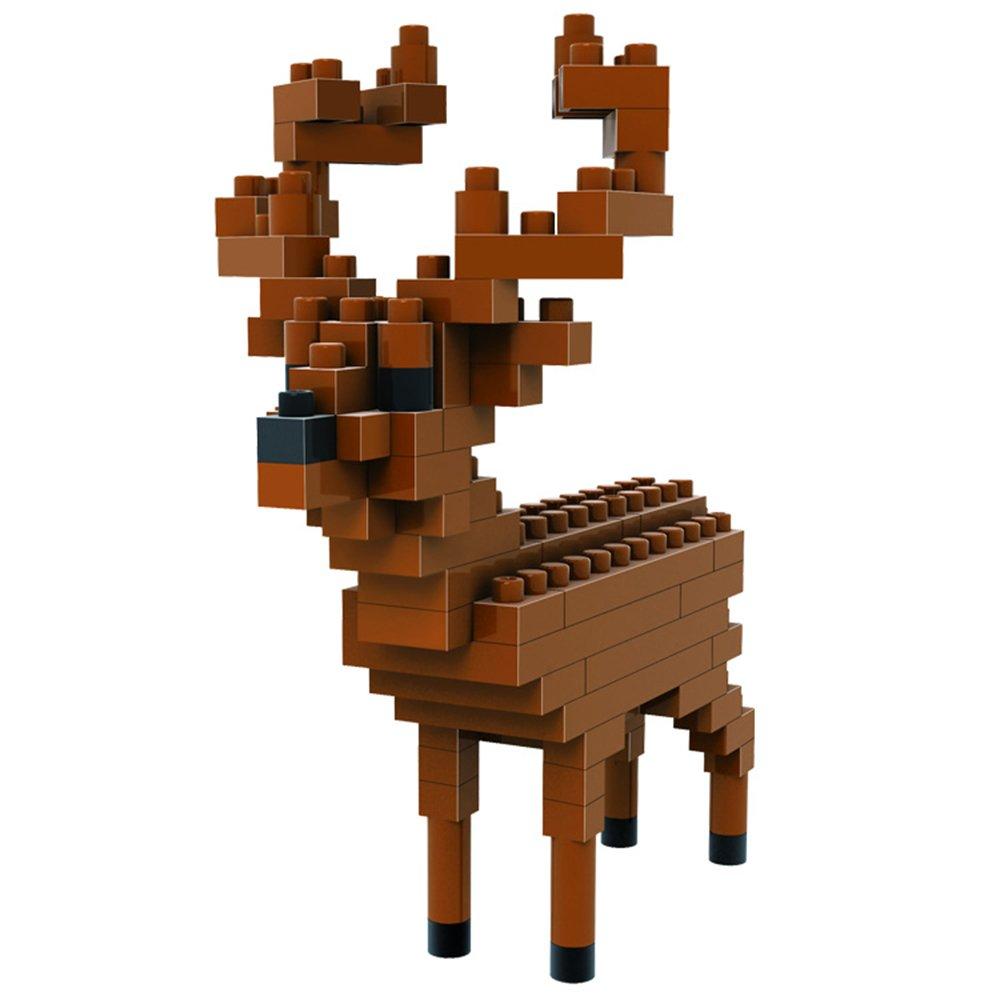 loz 俐智 创意拼装 乐高式钻石颗粒积木 动物公仔系列