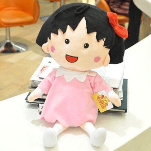 大眼猫 可爱樱桃小丸子布娃娃 毛绒玩具公仔 创意玩偶 生日礼物女
