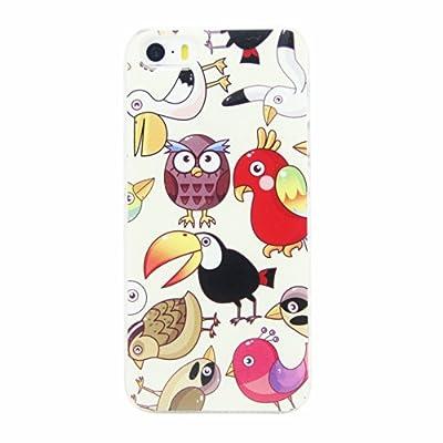 tiya 提亚 苹果5 手机保护壳 可爱小动物彩绘手机壳 欧美简约保护壳