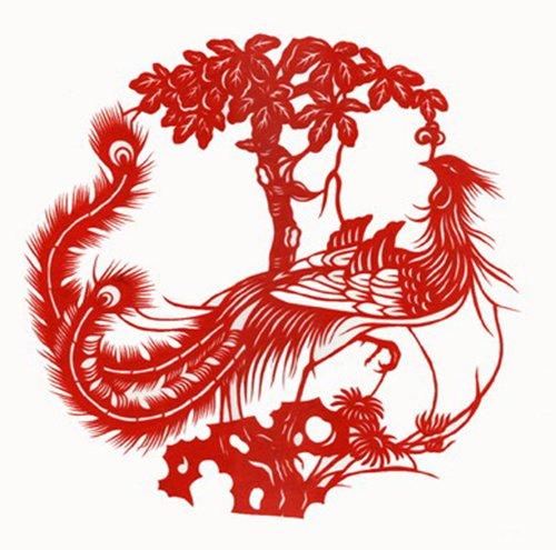 韵美 特色手工艺品 中国民间刻纸 凤凰 艺术剪纸 家居装饰画 凤凰4