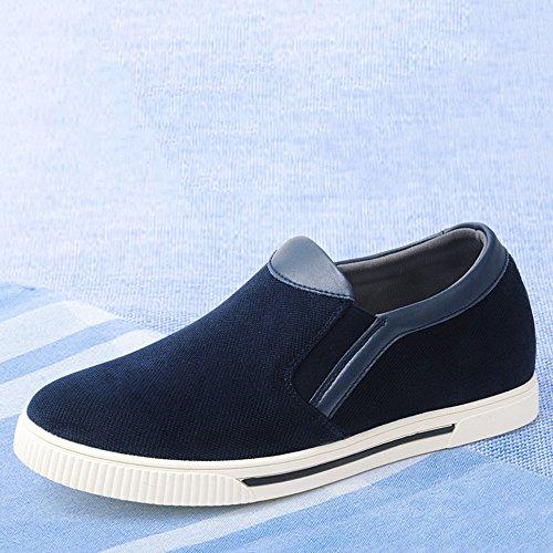 Gog 高哥 增高乐福鞋男式休闲鞋隐形内增高男士鞋子6cm套脚布鞋秋