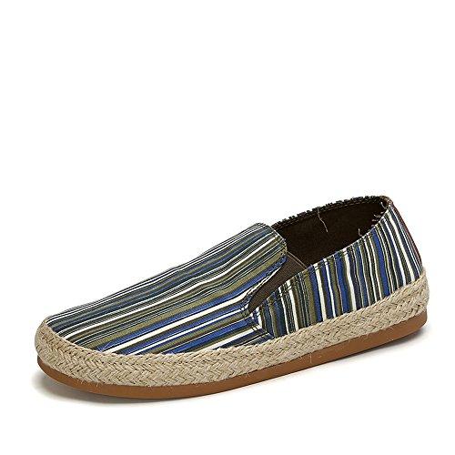 Tt&Mm 汤姆斯 春夏季新款一脚蹬帆布鞋休闲鞋低帮鞋亚麻男鞋433108M