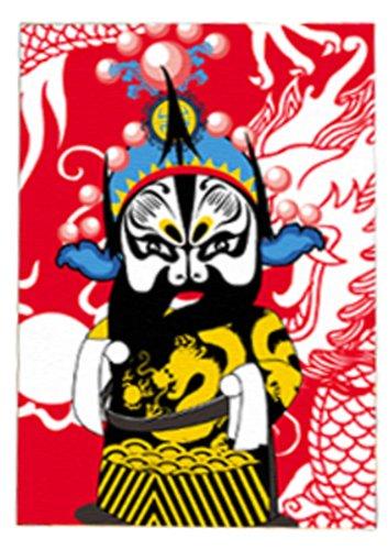 多彩多艺 diy数字油画 10*15cm 系列京剧脸谱净kt030图片