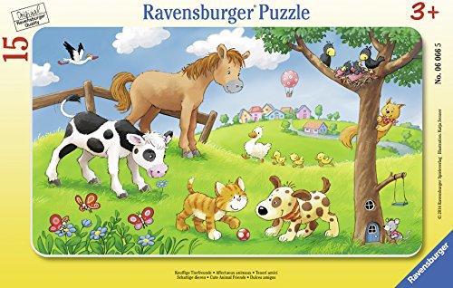 商品ravensburger puzzle animals with frame-affectionate 06066-15