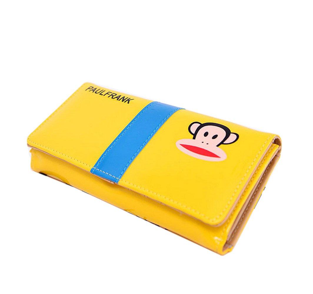 小猴子卡通可爱钱包漆皮折叠女士韩国手拿包