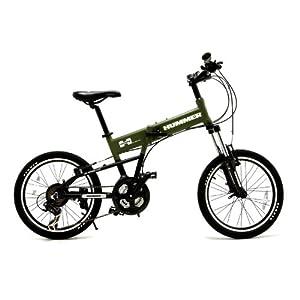 悍马 伞兵轻便越野系列 21速 越野折叠自行车 PT-2011F ¥2888