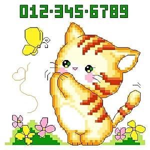 万众家园 十字绣 客厅动物画 调皮小猫 14ct dmc线 2股
