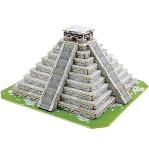 若态科技木质3D立体拼图著名建筑模型玛雅金字塔JPD561怎么样,好