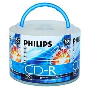 philips 飞利浦 乖乖桶 cd-r 52x 700mb 50片桶装 刻录盘高清图片