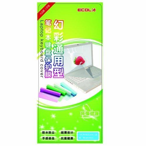 宜客莱(ECOLA)KB-EL001 幻彩抗菌笔记本键盘保护膜 (透明色)-图片