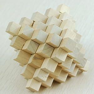 木头玩国 鲁班锁也称孔明锁 益智 玩具 智力玩具大菠萝成人 正品