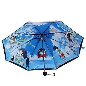 漫记宫崎骏龙猫伞太阳伞防紫外线50遮阳伞超强防晒黑胶超轻晴雨伞