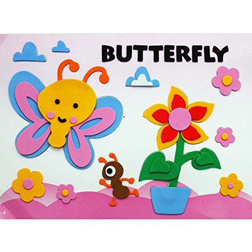 儿童益智玩具diy幼儿园手工 动物贴纸 (4号蝴蝶)
