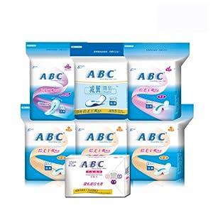ABC 超级透气倍柔干爽网面 A-15卫生巾湿巾组合 7件装 ¥47-10=37元
