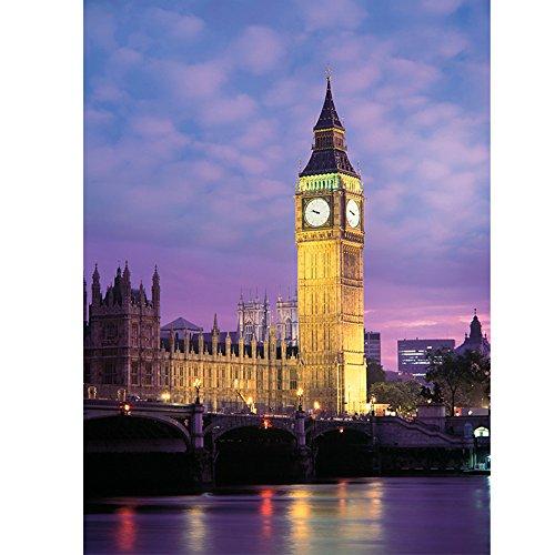 拼图500片夜光拼图英国建筑充满激情伦敦大钟楼英伦黄昏
