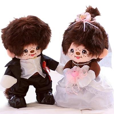 甜蜜城堡 毛绒玩具婚庆娃娃 可爱婚纱礼服情侣蒙奇奇