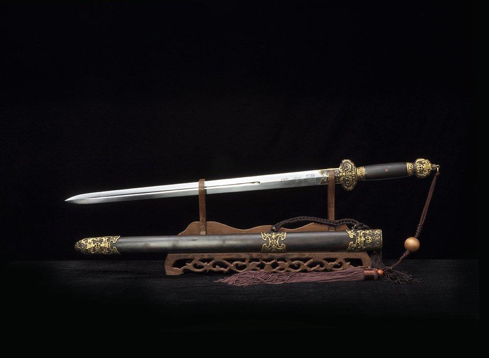 沈广隆 小金福剑 花纹钢短剑 龙泉短剑 沈广隆剑铺 龙泉宝剑 礼品短剑