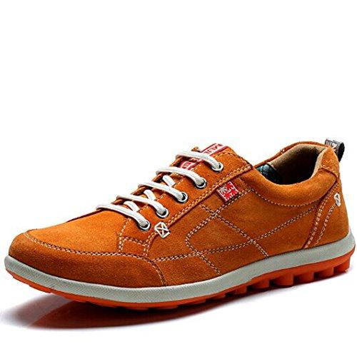 Mulinsen 木林森 英伦风时尚潮流男式系带复古反绒皮低帮经典休闲鞋板鞋帆船鞋单鞋男鞋子