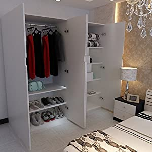 现代简约卧室组合柜 4门大衣柜