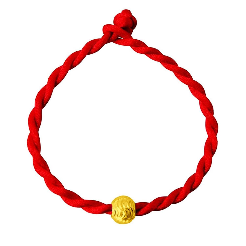 黄金转运珠红绳手链