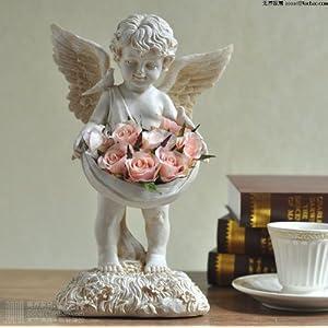 无界家品 欧式创意家居装饰品摆设 树脂工艺品小天使摆件 摆设品客厅