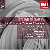 进口CD:梅西昂:图伦加利拉交响曲/时间结束四重奏/鸟鸫