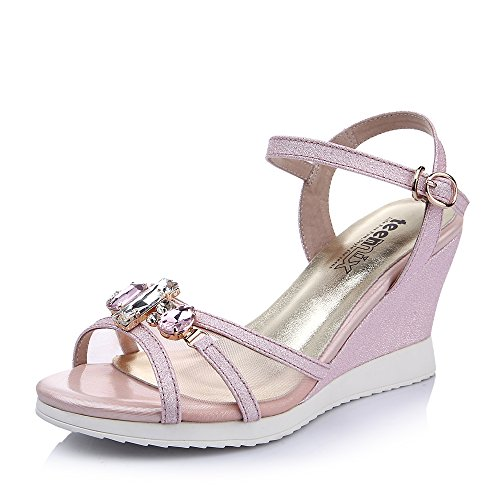 Teenmix 天美意 天美意夏季沙丁布女凉鞋 55373BL5