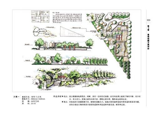 小型公园手绘效果图; 景观快题设计方案 方法与评析(谭平安); 书摘与