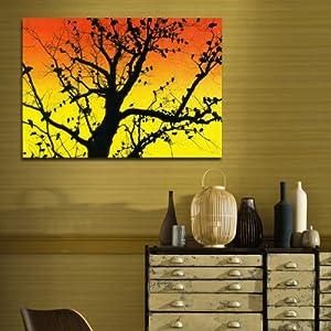 美时美刻 黄昏枯树现代装饰画 楼梯间挂画 过道壁画 单幅无框画 0400b
