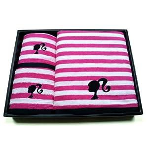 芭比剪影毛巾礼盒
