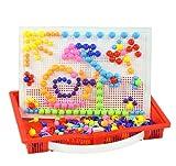 【网上城】高盛 蘑菇钉插板玩具 宝宝动手动脑组装玩具 288粒蘑菇钉 114圆形-图片