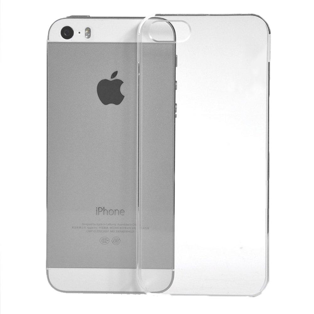 超薄透明手机壳手机套-苹果5 5S透明TPU超薄手机壳