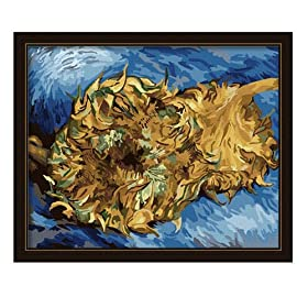 iy数字油画 梵高 两朵剪下的向日葵 40 50CM报价