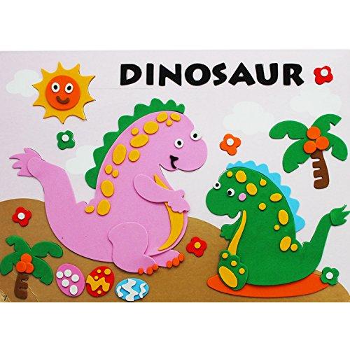 孩派eva贴画儿童手工制作 儿童益智玩具diy幼儿园手工 动物贴纸 (7号
