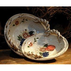 壹陶坊 家居饰品礼品 欧式田园水果手绘装饰盘 陶瓷桌面摆件 家居彩绘