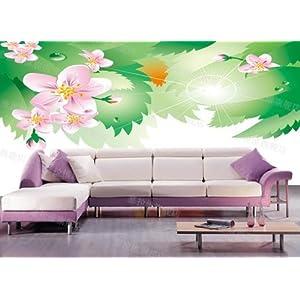 CESELAVIE 塞拉维 田园简修风格 简约树叶梅花电视沙发背景墙 卧室