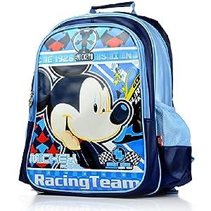 书包小学生1-3年级男女童米奇卡通双肩儿童书包sm20227 (蓝色款)