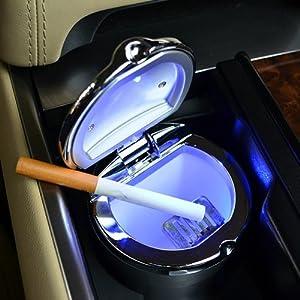 迪加伦汽车烟灰缸 时尚led灯烟灰缸 车载烟灰缸礼物品高清图片