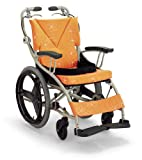 日本河村 AY18-38 爱之勇气一车三用轮椅 (座宽 38, 橘色)-图片