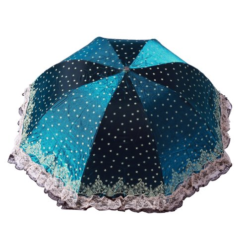 TO-PLAN 日系清新957 遮阳晴雨伞 太阳伞 防晒防紫外线伞 拱形公主伞 樱花 (青色)-图片
