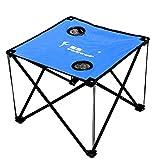 FLYTOP/飞拓 便携式折叠桌加厚牛津布 休闲沙滩钓鱼桌 宝蓝色-图片