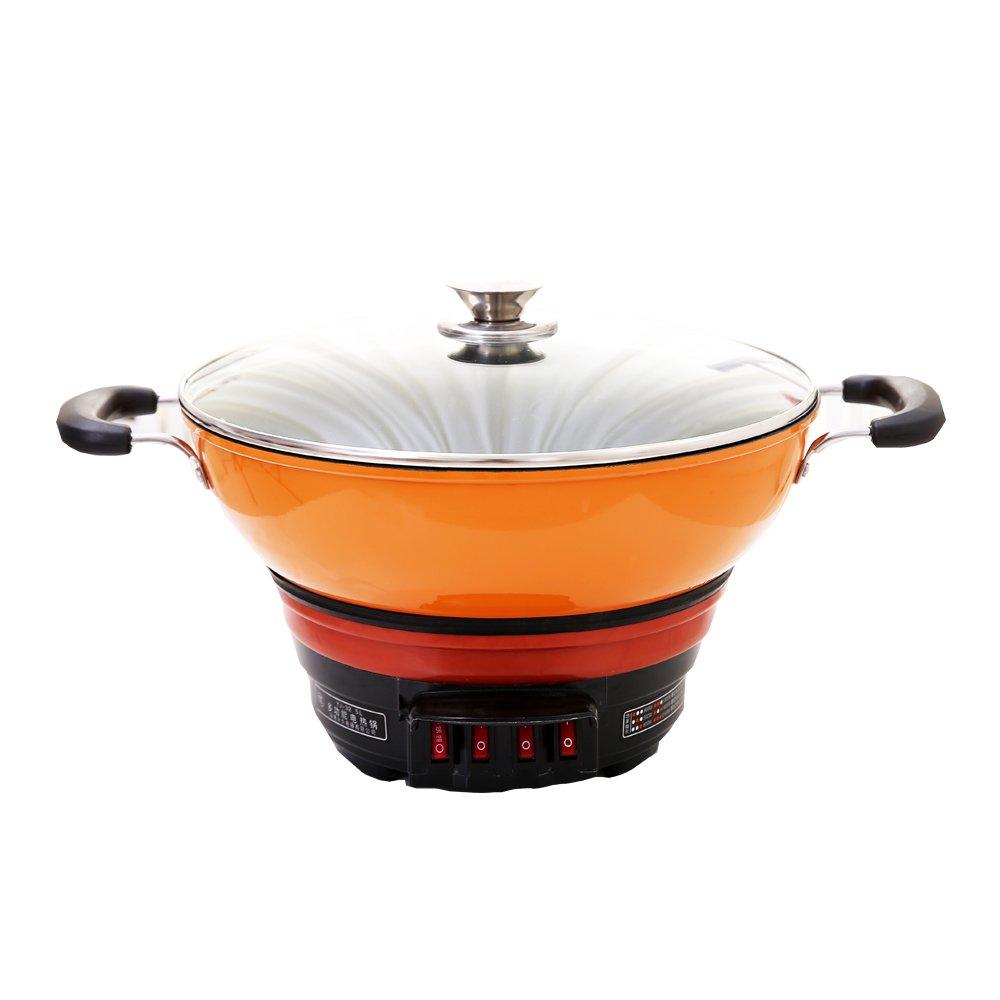 多功能铸铁锅 生铁养生电炒锅 齐添乐多用不粘 加厚加大生铁锅图片