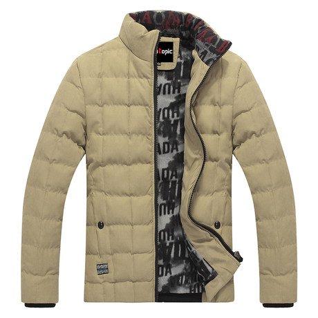 城市主题 新款男外套冬装时尚棉衣韩版修身男装潮棉袄保暖棉服13883