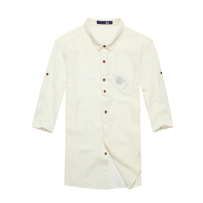 正反面 商务休闲短袖衬衫1884 蓝色 白色