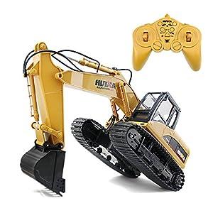 爱亲亲无线遥控挖土机 挖掘机 遥控车儿童电动玩具车