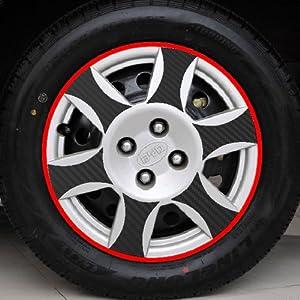 子浩 汽车轮毂贴纸 比亚迪F3 F3R F0 C款 碳纤维轮毂贴纸 高档加厚带高清图片