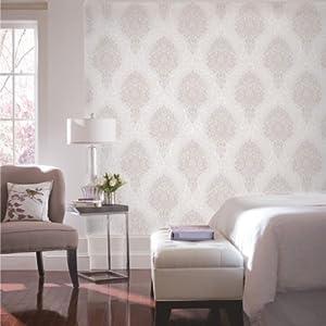 简欧大马士革电视背景卧室床头无纺布硅藻泥除